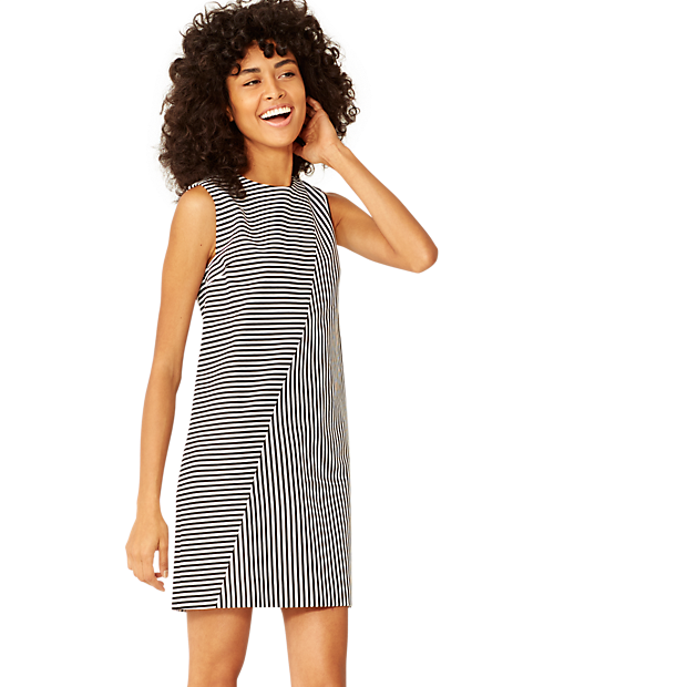 Kate Spade Saturday Crosswalk Stripe Dress